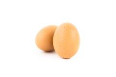 2 яичка с eggshell Стоковые Изображения