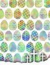 Яичка цвета с iPhone крестов стоковые изображения rf