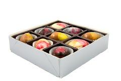 яичка шоколада коробки цветастые Стоковые Фото