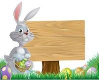 Яичка шоколада и зайчик пасхи знак бесплатная иллюстрация