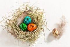 Яичка Colourfull для пасхи Стоковая Фотография
