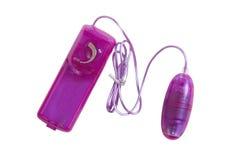 Яичко вибромашины игрушки секса фиолетовое на белизне Стоковая Фотография RF