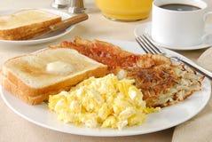 яичко завтрака бекона Стоковая Фотография