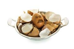 Яичко и eggshells. стоковые изображения