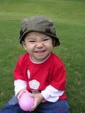 яичко мальчика шарика счастливое Стоковые Фотографии RF