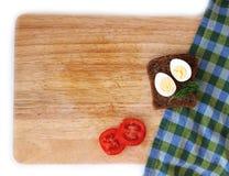Яичко триперсток и wholegrain положение квартиры хлеба Стоковое Изображение RF