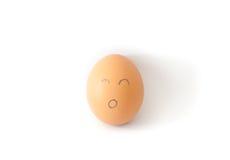 Яичко цыпленка Брайна изолированное на белизне Стоковое Фото