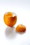 Яичко любит апельсин на белой предпосылке Стоковые Фото