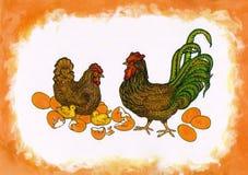 яичко n цыпленоков Стоковое Фото