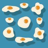 Яичница, вареное яйцо Стоковое Изображение RF