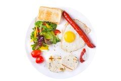 Яичница и сосиска стоковое изображение