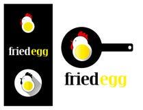 Яичница элемента дизайна логотипа Стоковое Изображение