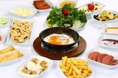 Яичницы и завтраки стоковое изображение rf