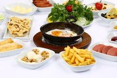 Яичницы и завтраки стоковое фото rf