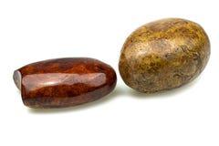 Яйцо сделанное из деревянной природы для пресс-папье стоковое изображение