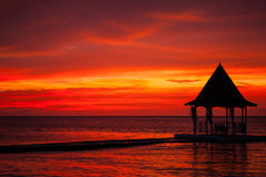 ямайский заход солнца Стоковая Фотография