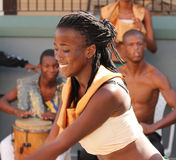 Ямайский уличный исполнитель стоковые фотографии rf