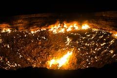 Яма 12 кратера газа Darvaza стоковое фото rf