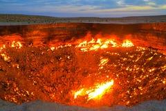 Яма 16 кратера газа Darvaza стоковая фотография rf
