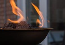 Яма огня задворк Стоковые Фото