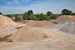 Яма песка и гравия Стоковые Фотографии RF