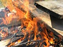 яма пожара Стоковые Фотографии RF