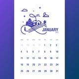 Январь 2016 Стоковое Изображение