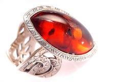 янтарное кольцо Стоковые Изображения RF