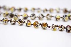 янтарное ожерелье Стоковое Изображение