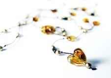янтарное сердце Стоковые Изображения RF
