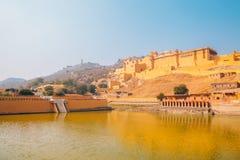 Янтарный дворец в Джайпуре, Индии Стоковое Изображение RF