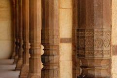 янтарный красивейший камень Индии форта колонок стоковое фото