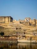 Янтарный форт в Раджастхане, в Индии Стоковое Изображение RF