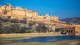 Янтарный форт Джайпур Раджастхан Индия стоковые изображения