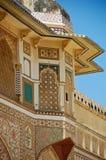 янтарный форт Индия Раджастхан Стоковые Фотографии RF