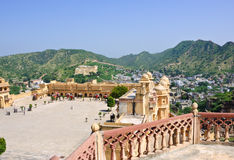 янтарный форт Индия jaipur Стоковое фото RF