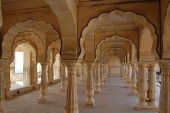 янтарный форт jaipur стоковое фото