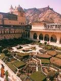 Янтарный Sheesh сад Mahal, янтарный форт стоковая фотография rf