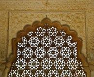 янтарным экран latticed фортом Стоковые Фото