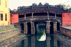 японец Вьетнам hoi моста стоковая фотография rf