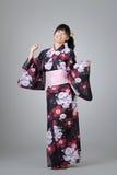 японец девушки танцы Стоковая Фотография