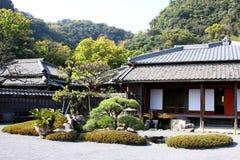 японец дома сада Стоковые Изображения RF
