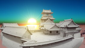 японец замока Стоковое Фото