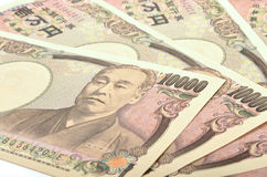 Японец 10000 иен Стоковая Фотография