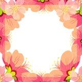 Японец карточки и китайская цветя вишня также вектор иллюстрации притяжки corel Стоковые Изображения RF