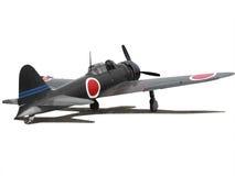 японец нул самолета стоковое изображение