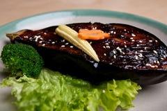 японец плодоовощ яичка тарелки брокколи Стоковое фото RF