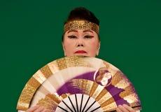 японец празднества вентилятора танцора Стоковое Изображение