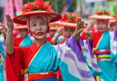 японец празднества танцоров Стоковое Изображение RF