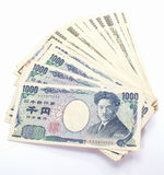 Японец примечание 1000 банков иен Стоковая Фотография